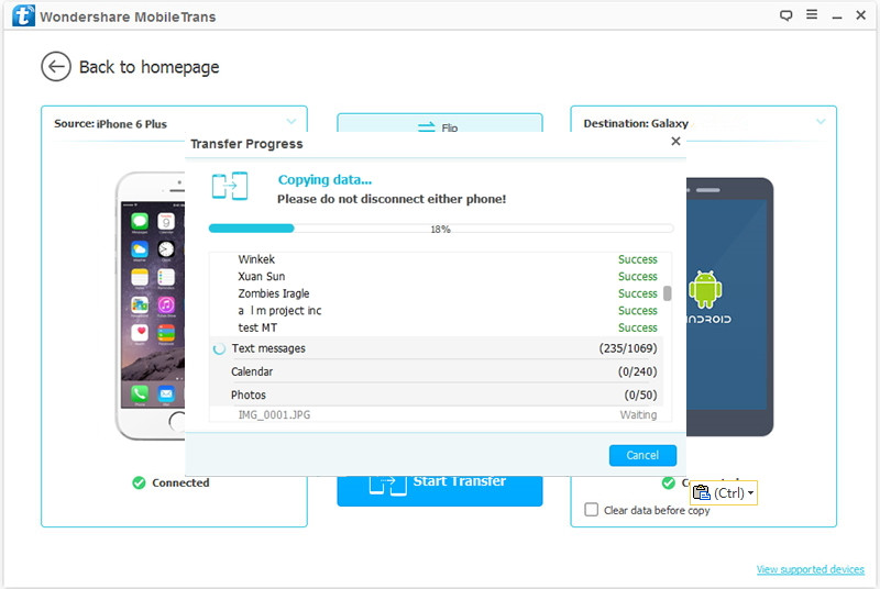 transfer data from iphone to nokia p1