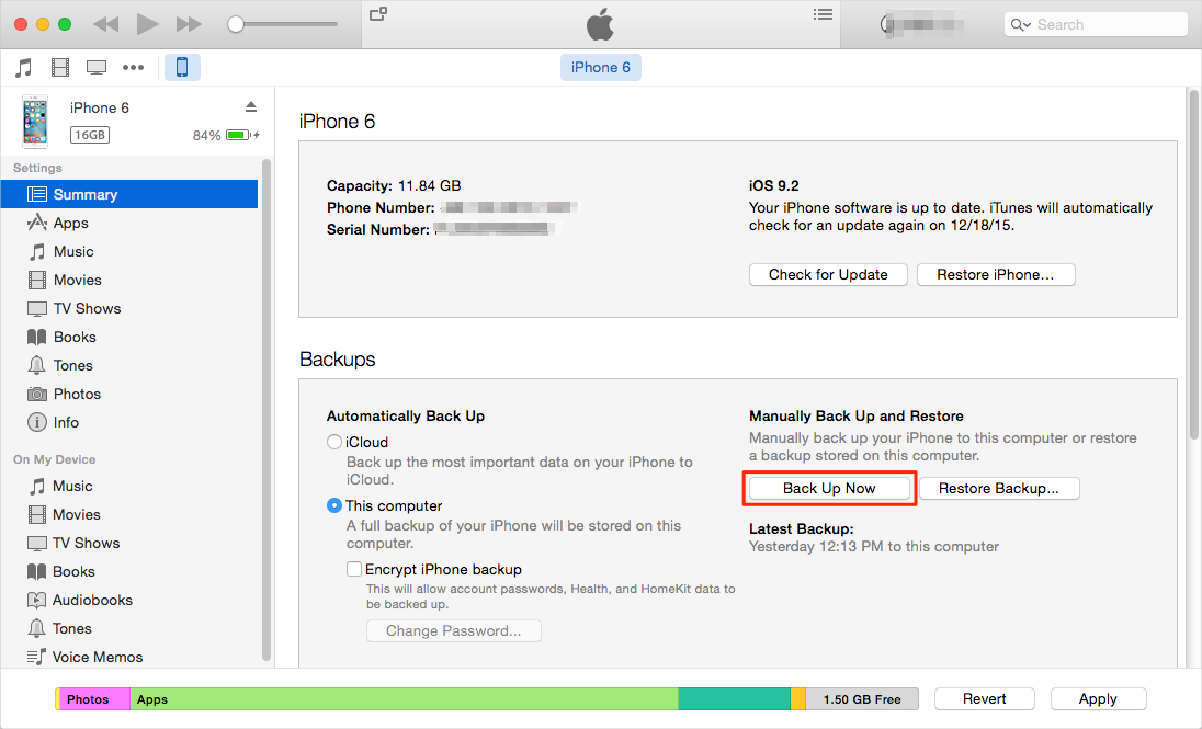 how to backup iphone to computer with  without itunes