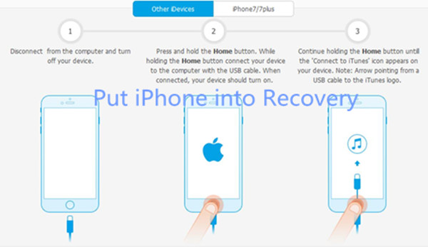 put iPhone into recovery mode