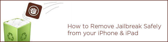 Remove Jailbreak Safely and Restore Your iPhone 6