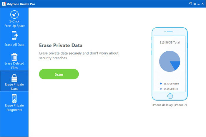 erase private files on iPhone