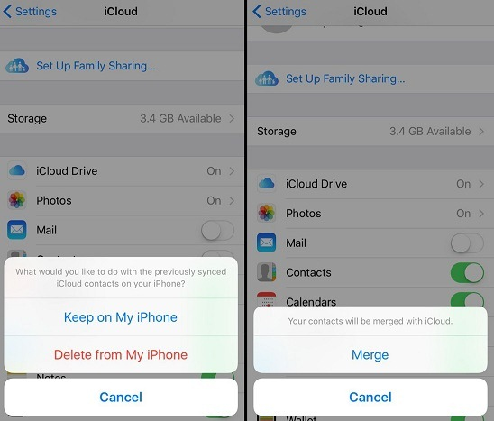 recover contacts by redownload from icloud