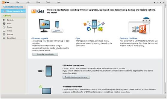 Скачать Kies для Samsung Galaxy Ace