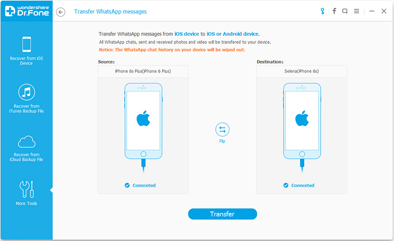 How to transfer whatsapp chats from android to iphone using itunes