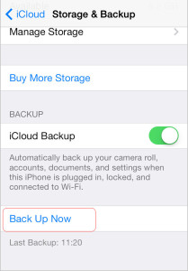 restore data to new iPhone 7 from iCloud