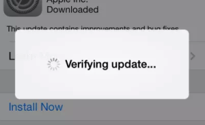 iOS 10 Verifying update...