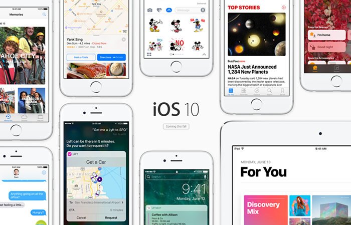 ios 10 iphone ipad