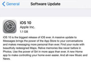 Update iPhone/iPad to iOS 10 by OTA