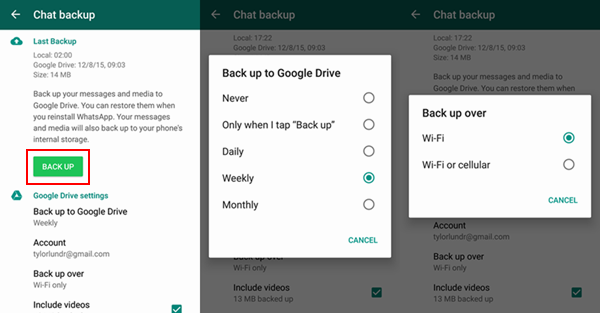 sync WhatsApp messages between Android