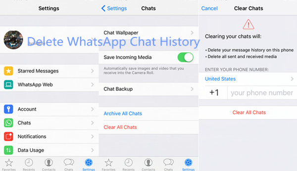 delete messages iphone how to delete whatsapp chat history on iphone permanently 10499