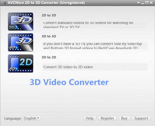 convert 3d video to 2d video format