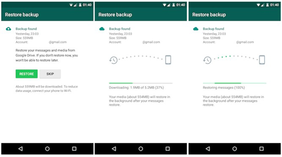 Transfer Whatsapp Messages From Android Samsung To Galaxy S8
