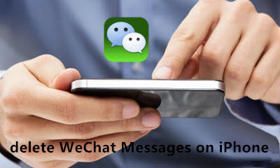 delete wechat messages on iphone