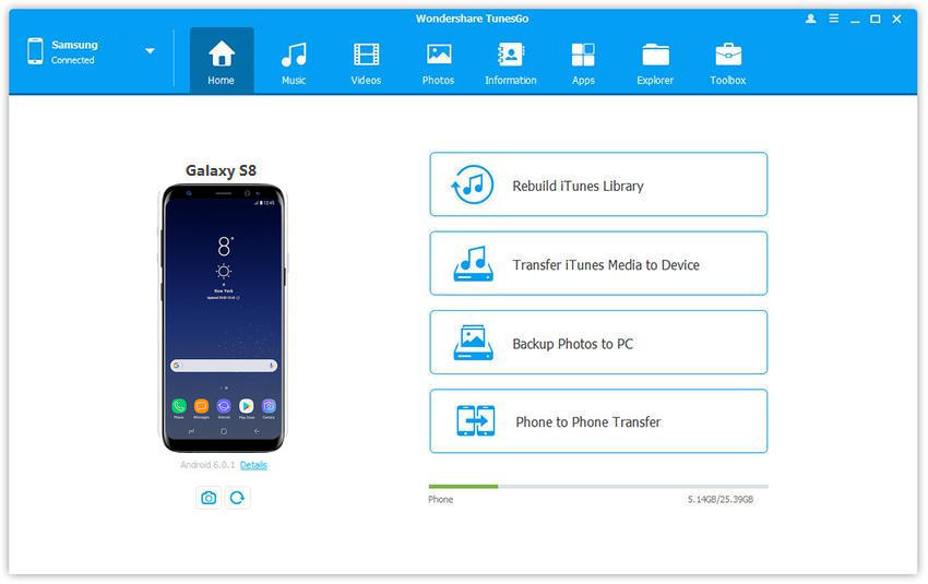 How to Transfer Videos to Samsung S8 from PC/Android