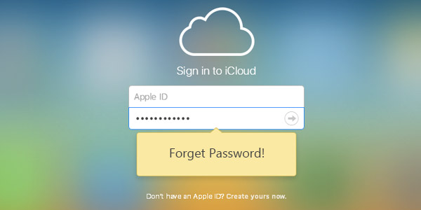 how to recover lost icloud email password