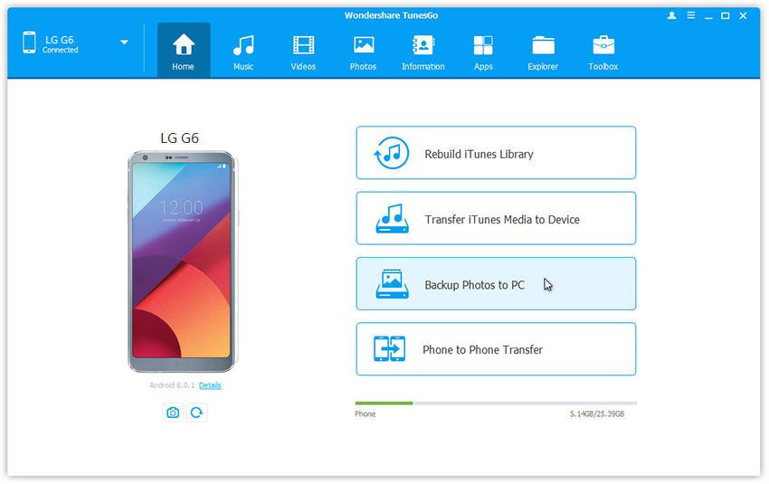 Backup Lg Photos How To Transfer Photos From Lg G6 To