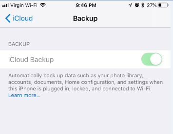 How to Fix iCloud Back Up Now Greyed Out